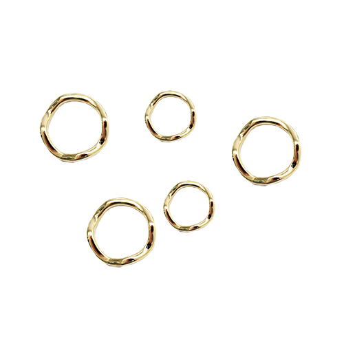 Layered & Knuckle Ring SET[5 in 1]-GOLD/레이어드 앤 너클 반지[5개세트]-골드
