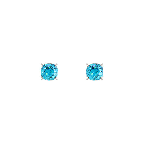 Blue Color Mirror Ball Post Earrings/블루 컬러 미러볼 포스트 귀걸이