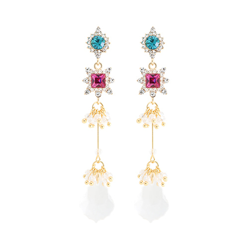 Color Party Crystal Drop Earrings/컬러 파티 크리스탈 드롭 귀걸이