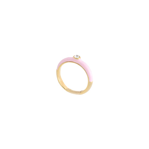 Pink Glossy Color Ring/핑크 글로시 컬러 반지
