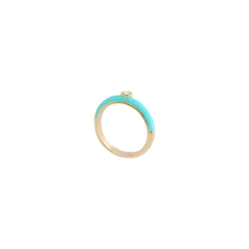 Turquoise Glossy Color Ring/터콰이즈 글로시 컬러 반지
