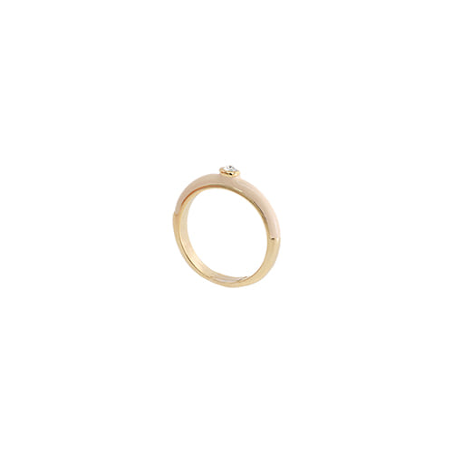 Beige Glossy Color Ring/베이지 글로시 컬러 반지