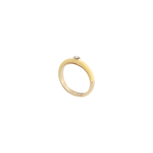 Yellow Glossy Color Ring/옐로우 글로시 컬러 반지