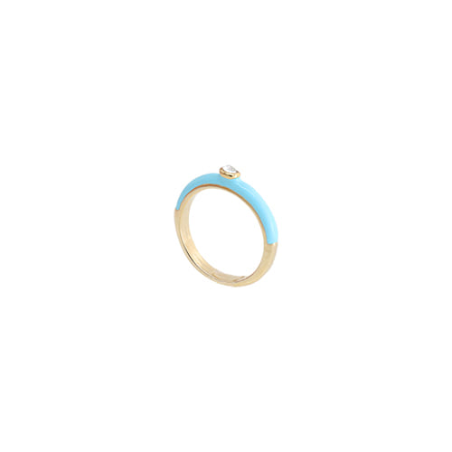 Skyblue Glossy Color Ring/스카이블루 글로시 컬러 반지