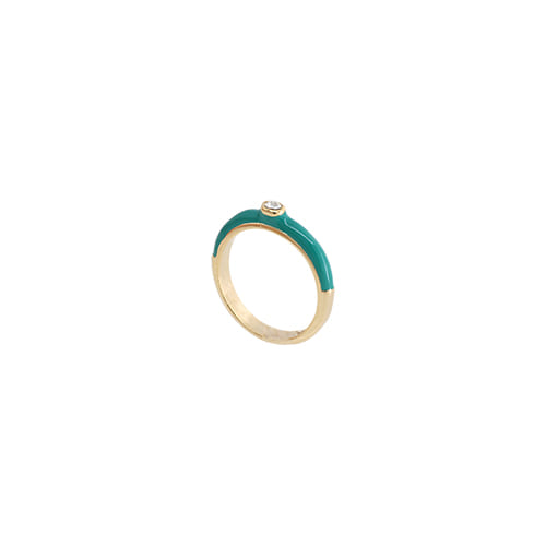 Teal Glossy Color Ring/틸 글로시 컬러 반지