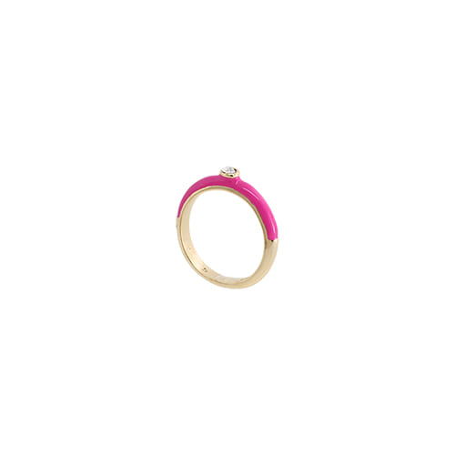 Hotpink Glossy Color Ring/핫핑크 글로시 컬러 반지