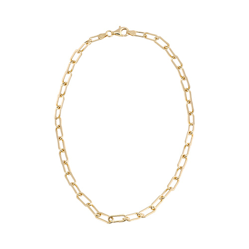 [All 92.5 Silver] Glossy Gold Chain Necklace/[전체 92.5 실버] 글로시 골드 체인 목걸이