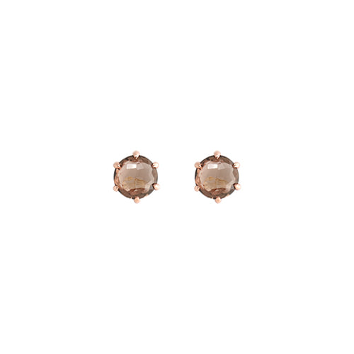 [All 92.5 Silver] Smoky Quartz Post Earrings/[전체 92.5 실버] 스모키 쿼츠 포스트 귀걸이