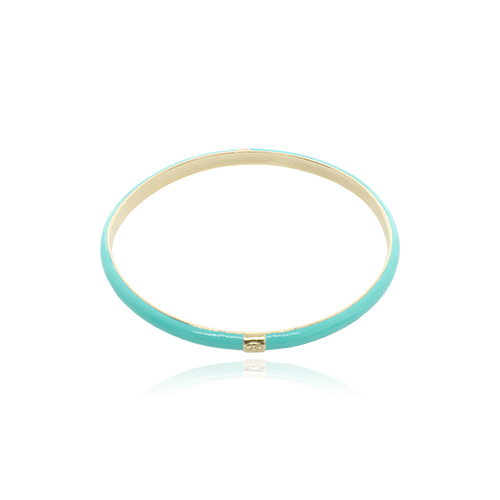 Turquoise Glossy Color Bangle/터콰이즈 글로시 컬러 뱅글