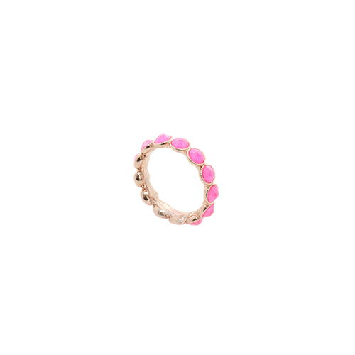 [Swarovski Crystal] Neon Pink Color Crystal Ring/네온 핑크 컬러 크리스탈 반지