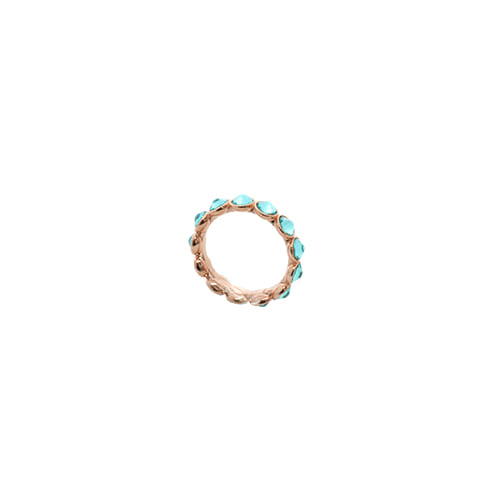 [Swarovski Crystal] Neon Aqua Color Crystal Ring/네온 아쿠아 컬러 크리스탈 반지