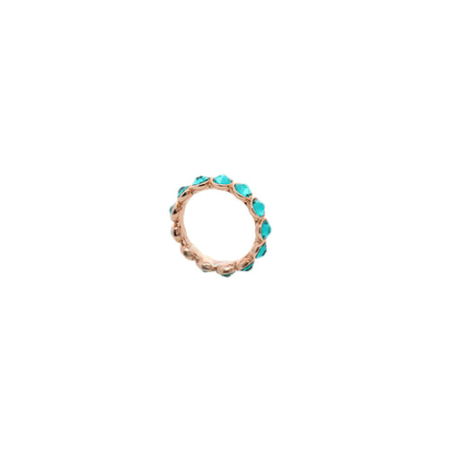[Swarovski Crystal] Neon Teal Color Crystal Ring/네온 틸 컬러 크리스탈 반지