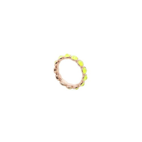 [Swarovski Crystal] Neon Yellow Color Crystal Ring/네온 옐로우 컬러 크리스탈 반지