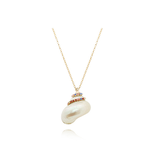 Natural White Conch Necklace/네츄럴 화이트 소라 목걸이