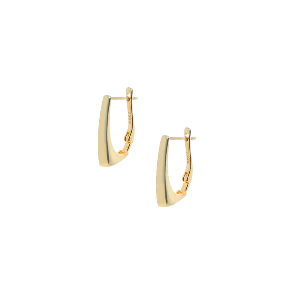 Gold One Touch 92.5 Silver Earrings/골드 원터치 92.5 실버 귀걸이