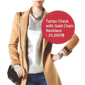 매거진 인스타일 12월호[Tartan Check with Gold Chain Necklace]